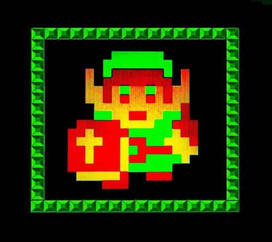 The Legend of Zelda (Link with Shield) Art Print