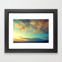 Clouds at the Tor Framed Art Print