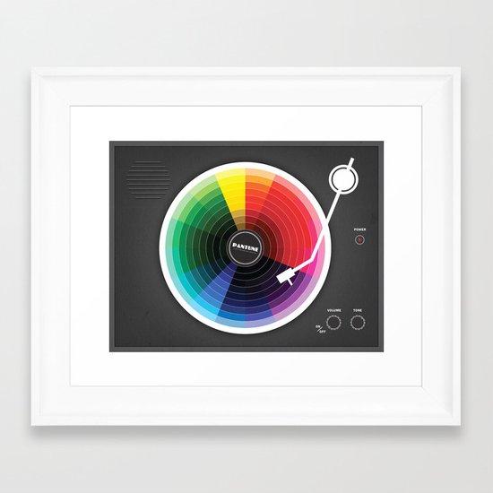 Pantune - The Color of Sound Framed Art Print
