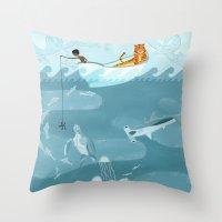 Life Of Pi (Fishing) Throw Pillow