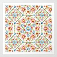 Ditsy Millefiori Pattern Art Print