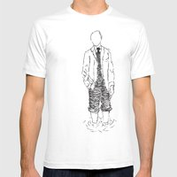 Standing Is Fun Mens Fitted Tee White SMALL