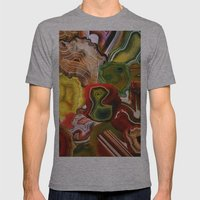 Slivers of the Past, Earth's core Mens Fitted Tee Athletic Grey SMALL