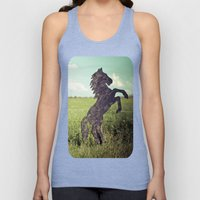 Horse fence Unisex Tank Top