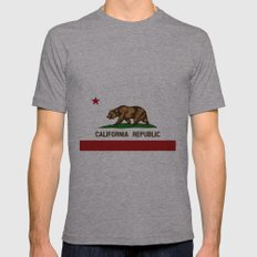 California's flag Mens Fitted Tee Athletic Grey SMALL