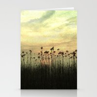 Into the sunset Stationery Cards