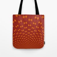 Orange Discs On Deep Ora… Tote Bag