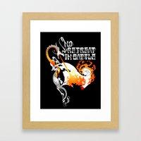 No Retreat In Battle Framed Art Print