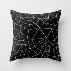 Seg with Color Spots Throw Pillow