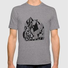 Peak Mens Fitted Tee Athletic Grey SMALL