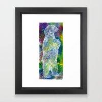 Star Bear Framed Art Print