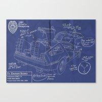 Time Machine Blueprint Canvas Print