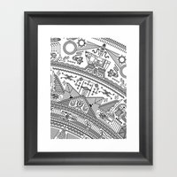 Four - Version 2 (with D… Framed Art Print