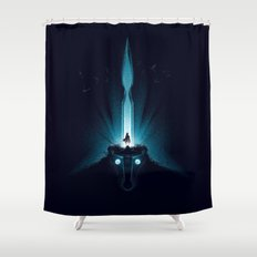 Wander and the Colossus Shower Curtain