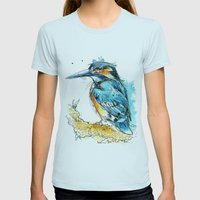 Regal Kingfisher Womens Fitted Tee Light Blue SMALL