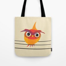 Owl On A Wire Tote Bag