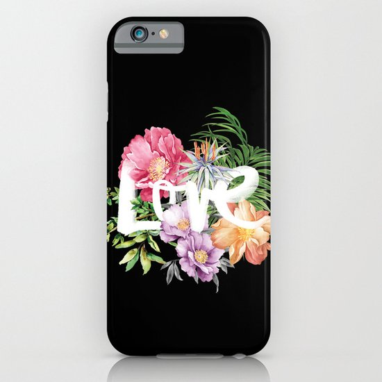 Love is Black iPhone & iPod Case