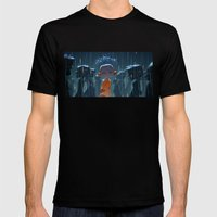 Monk In Modern Times Mens Fitted Tee Black SMALL