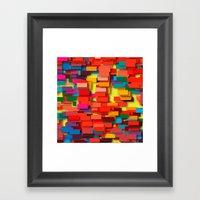 colored bricks Framed Art Print