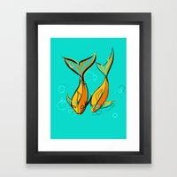 Goldphishes Framed Art Print