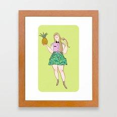 Val Framed Art Print