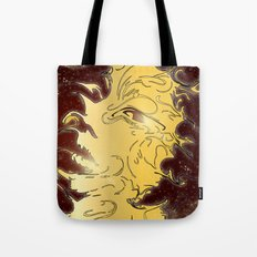 girl in the galaxy Tote Bag