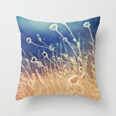 Blue and day  Throw Pillow
