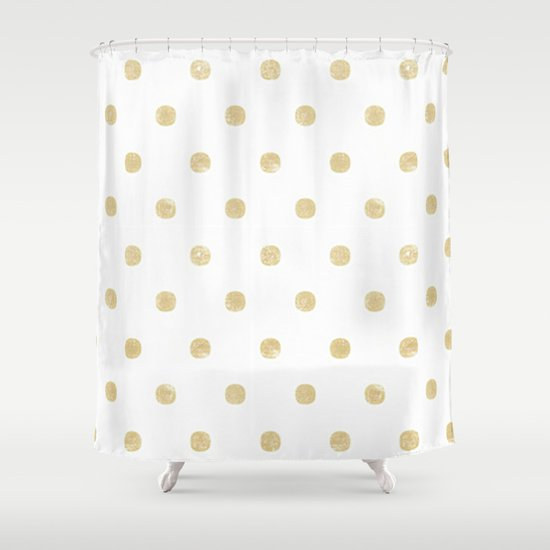 Gold Shower Curtain By Tayler Willcox