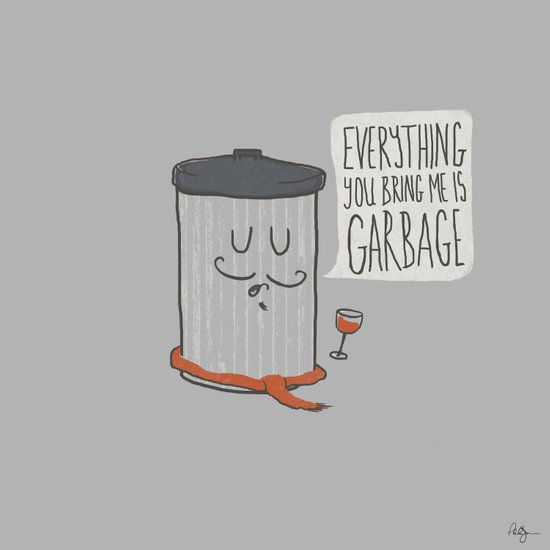 French Trash Can Art Print