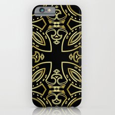 Black & Gold Boho Geometric Pattern Slim Case iPhone 6s