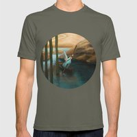 In his Boat Mens Fitted Tee Lieutenant SMALL