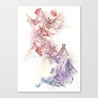 Flight of Bats Canvas Print