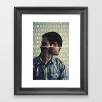 L I F E . L E S S O N . Framed Art Print