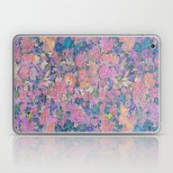 Floral Pattern In Pink A… Laptop & iPad Skin