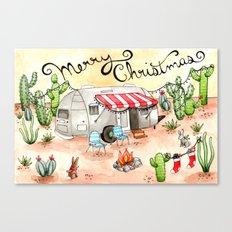 Airstream Christmas Canvas Print