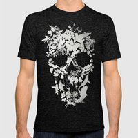 Simple Skull Mens Fitted Tee Tri-Black SMALL