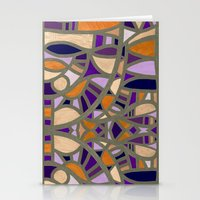 Gaudy Gaudi Orange & Pur… Stationery Cards
