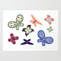 Beautiful Butterflies Art Print