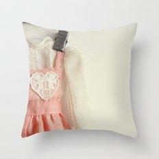 Doll Closet Series - Heart Dress Throw Pillow