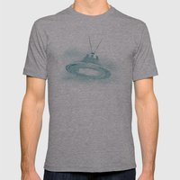 UFO II Mens Fitted Tee Athletic Grey SMALL