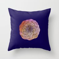 Throw Pillow featuring Flower by Brontosaurus