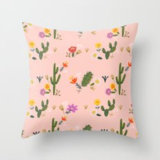 Arizona Cacti pattern Throw Pillow