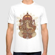 Ganesha: Lord of Success Mens Fitted Tee SMALL White