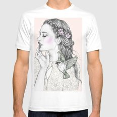 Fly high Mens Fitted Tee White SMALL