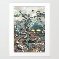 Revenge Of The Kracken Art Print