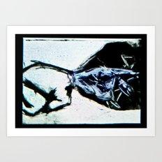 Space Cat Talkin'  Art Print