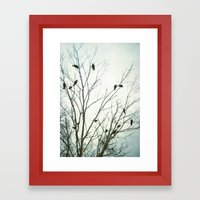 A Blue Gray Day Framed Art Print