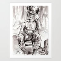 Pin-up Jonah Hex Art Print