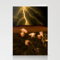 In darkest night one sees the flash but beauty soothes the karmic crash Stationery Cards
