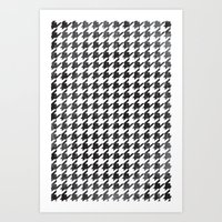 Rugged Houndstooth  Art Print